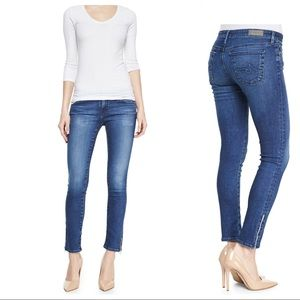 AG Adriano Goldschmied Zip Up Legging Ankle Jeans